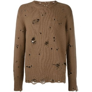 The Soloist - destroyed jumper - men - カシミア/ウール - 48