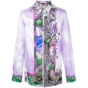 Versace Collection - floral border print shirt - men - シルク - 42