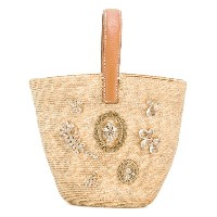 Ermanno Scervino - straw basket tote - women - レザー/ストロー - ワンサイズ