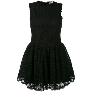 Red Valentino - embroidered lace skater dress - women - コットン/ポリアミド/スパンデックス - S