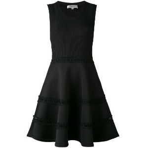 Carven - sleeveless ribbed skater dress - women - ポリエステル/スパンデックス - L