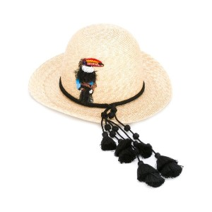 Ermanno Scervino - tassel trim straw hat - women - コットン/ストロー - M