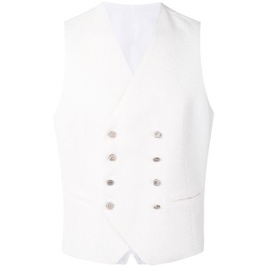 Tagliatore - double breasted vest - men - コットン/リネン/ポリアミド/キュプロ - 48
