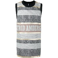 Astrid Andersen - basketball style tank top - men - シルク/ポリエステル - S