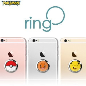 【送料無料?安心国内発送】★ Pokemon Ring O★ Smart Phone Finger Ring holder Stand Convenient Safe