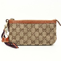 GUCCI グッチ シェリーライン バッグ型チャーム付ポーチ 152507 002058 ポーチ【中古】