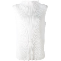 Pleats Please By Issey Miyake - pleated high-neck blouse - women - ポリエステル - 4