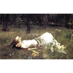 油絵 John William Waterhouse_ オフィーリア