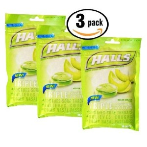 【3個】Halls Triple Soothing Action MELON SPLASH - 30ドロップ ホールズ メロン味