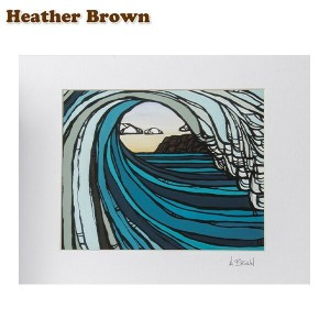 Heather Brown ヘザーブラウン Open Edition Matted Art Prints アートプリント Barrel View バレルビュー HB9006P ハワイ 絵画...