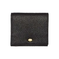 ルル ギネス レディース アクセサリー 財布【Lulu Guinness Hettie pebble black small flap over purse】