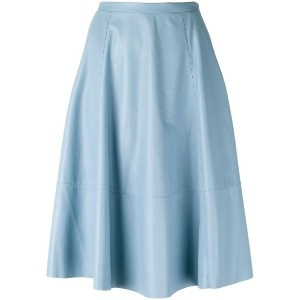 Drome - panelled skirt - women - ラムスキン/キュプロ - M