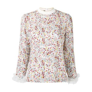 Mother Of Pearl - floral print blouse - women - シルク/ポリアミド - 10