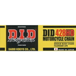 428H(D)-100RB【税込】 DID バイク用チェーン(カラー:スチール / リンク数:100) スタンダード チェーン [428HD100RB]【返品種別A】【RCP】
