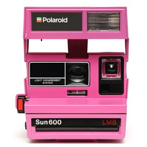 【送料無料】 IMPOSSIBLE POLAROID 600 Camera 80s Custom Block Color Pink 4612