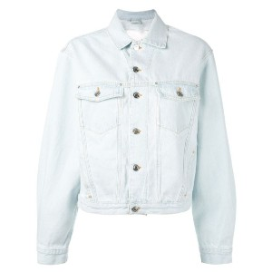 Iro - back shredded denim jacket - women - コットン - 34
