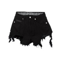 Marcelo Burlon County Of Milan - 'Alin' distressed shorts - women - コットン/スパンデックス - 27