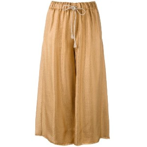 Forte Forte - shining structured culotes - women - ビスコース/Polyimide - 2