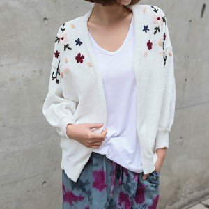 [zoozoom] Flower embroidery open cardigan 2color / 26398