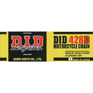 428D-140RB【税込】 DID バイク用チェーン(カラー:スチール / リンク数:140) スタンダード チェーン [428D140RB]【返品種別A】【RCP】