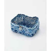 THE SOUVENIR SHOP_ANNA SUI  タイル花柄 パッキングポーチMサイズ(80320025) ブルー バッグ~~セカンドバッグ・ポーチ
