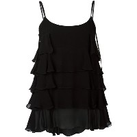 Twin-Set - tiered tank top - women - ビスコース - 40