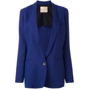Erika Cavallini - one button blazer - women - リネン/キュプロ - 42