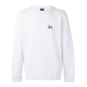 Stussy - basic crew neck sweatshirt - men - コットン/ポリエステル - L