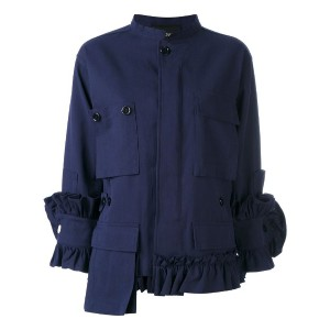 Erika Cavallini - oversized jacket - women - コットン - 48