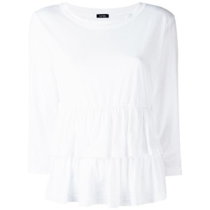 Aspesi - double peplum hem top - women - コットン - L