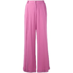 Emporio Armani - flared trousers - women - ビスコース - 40