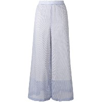 Theory - light layered palazzo pants - women - コットン - M