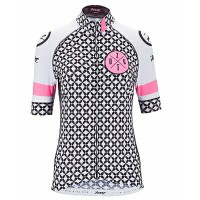ZOOT W CYCLE LTD JERSEY WHITE/FLO PINK