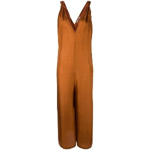 Mes Demoiselles - v-neck jumpsuit - women - シルク - 36