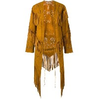Roberto Cavalli - fringed coat - women - スエード - 40