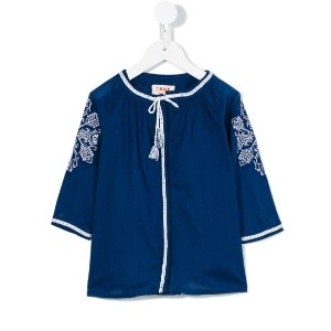 Maan - embroidered blouse - kids - コットン - 2歳