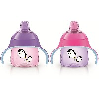 Philips AVENT My Penguin Sippy Spout Cup 200ml フィリップス AVENT BPA フリーシッピースパウト 哺乳びん 2個 [並行輸入品]