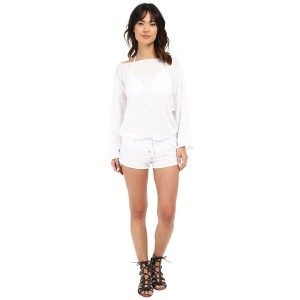 ビタミン A Vitamin A Swimwear レディース 水着 ビーチウェア【Solana Romper Cover-Up】Eco Linen White