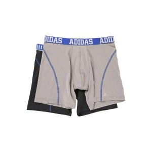 アディダス メンズ ブリーフパンツ アンダーウェア Sport Performance ClimaCool 2-Pack Boxer Brief Light Onix/Blue Night Grey...