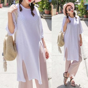 送料 0円★PPGIRL_9636 Late summer T shirt / long T shirt / casual / loose fit / box T shirt / casual dr
