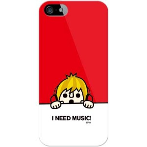 【送料無料】 need music レッド (ソフトTPUクリア) design by PansonWorks / for iPhone SE/5s/SoftBank 【SECOND SKIN...