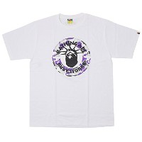 A BATHING APE ア ベイシング エイプ 16AW NYC NY CAMO BUSY WORKS TEE サークルロゴTシャツ 白 L