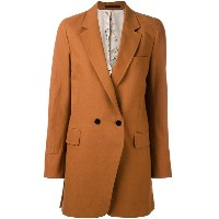 Paul Smith - double-breasted midi coat - women - コットン/リネン - 40