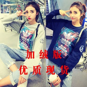 8602 # 2016 Harajuku plus velvet version was thin couple models retro blazer hedging long-sleeved...