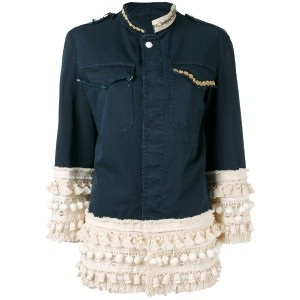 History Repeats - pom pom panel jacket - women - コットン/スパンデックス - 38