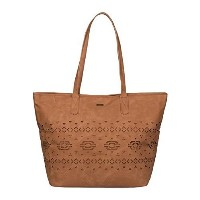 Roxy Now A Days Shoulder Tote Bag Camel One Size