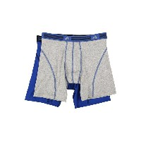 アディダス メンズ ブリーフパンツ アンダーウェア Athletic Stretch 2-Pack Boxer Brief Heather Grey/Bold Blue/Bold Blue/Black