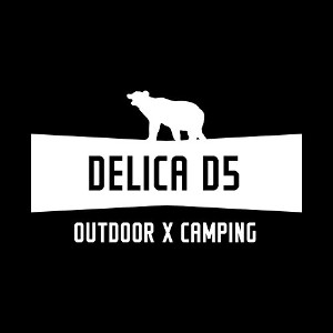 OUTDOOR X CAMPING DELICA D5 デリカD5 カッティング ステッカー ホワイト 白