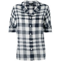 Theory - checked blouse - women - コットン - M