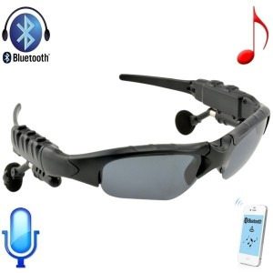 Fashion Flip-up Sunglasses Bluetooth3.0 + EDR Stereo Music Hands-free Foldable Headset Headphone w/